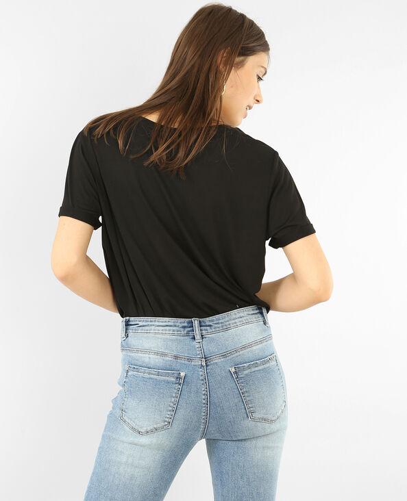 T-shirt oversize à poche rivetée noir