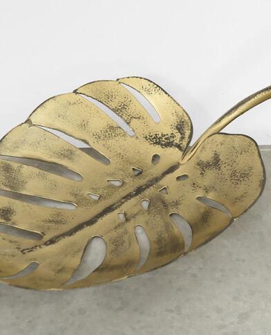 Aufbewahrungskorb Blatt Gold