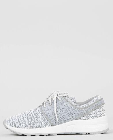 Zapatillas running gris claro jaspeado