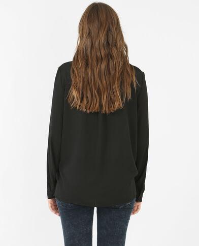 Blusa vaporosa negro