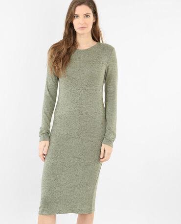 Langes Pulloverkleid Grün