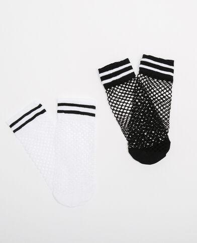 Lote de calcetines rejilla negro