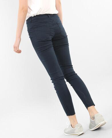Pantalon skinny destroy bleu marine