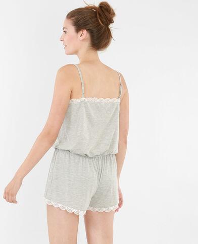 Mono corto homewear gris perla