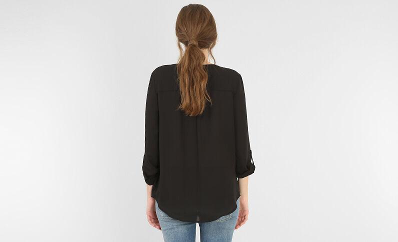 Blusa con cremallera negro