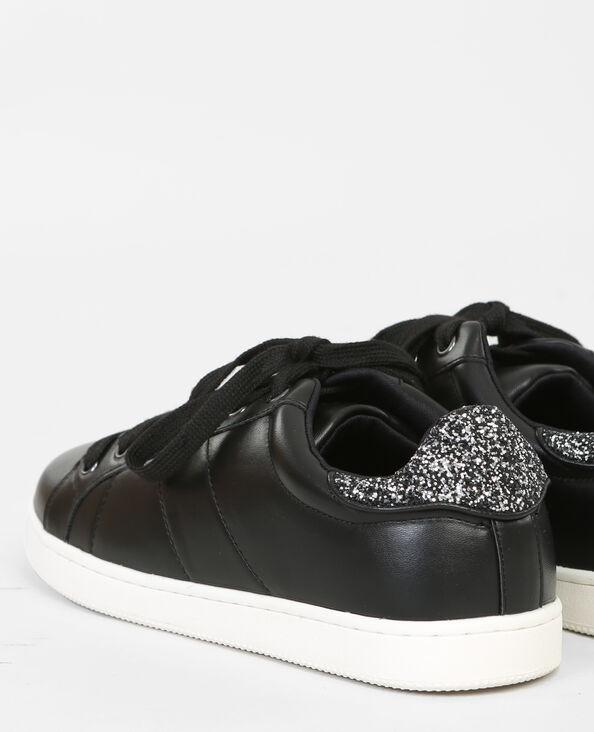 Scarpe da basket glitter dietro nero