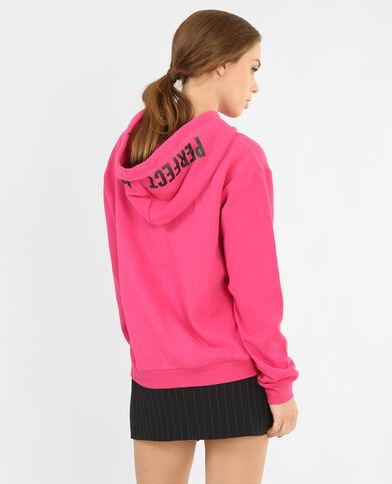 Sweater met kap fuchsiaroze