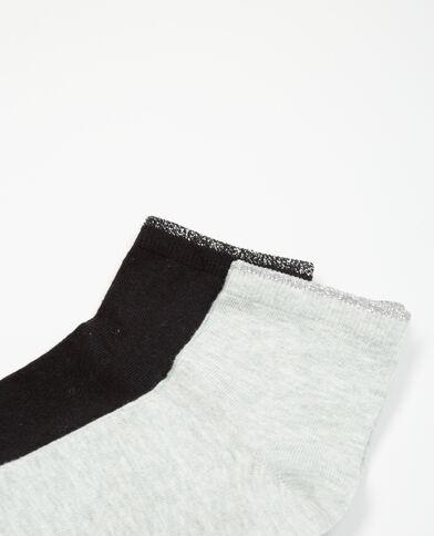 Lote de calcetines lúrex negro