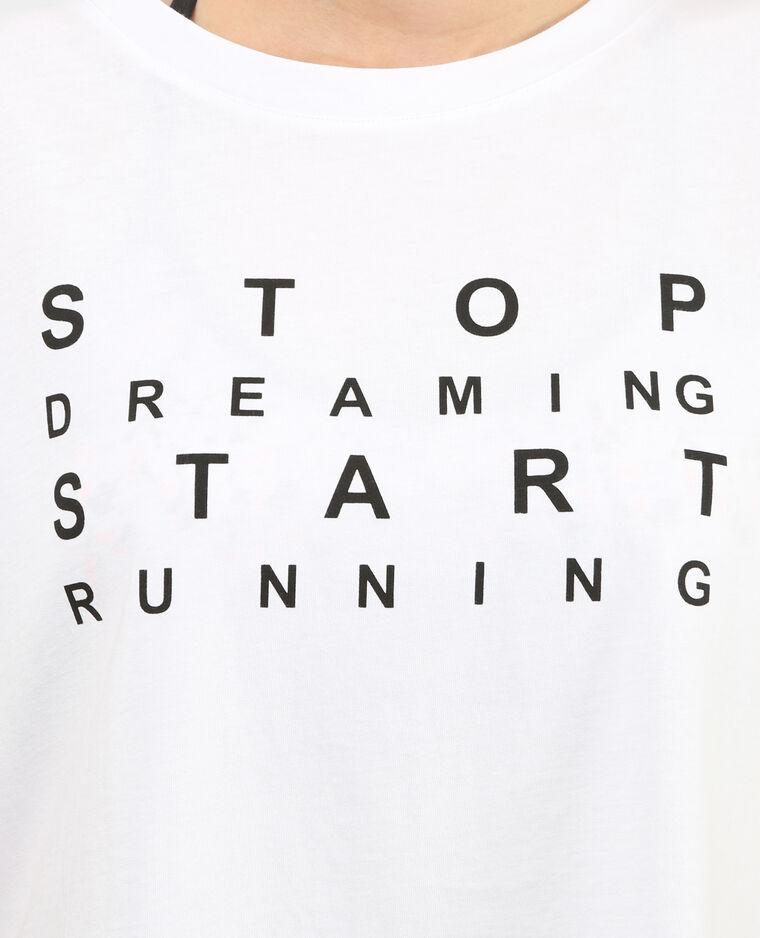 Sportliches Cropped-T-Shirt Weiß