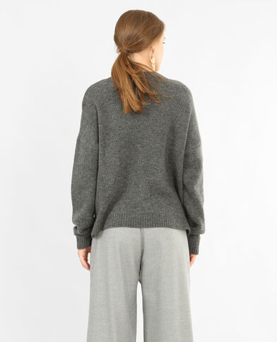 Pullover mit Perlen gris