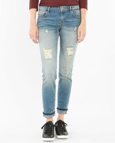 Jeans slim destroy azul vaquero