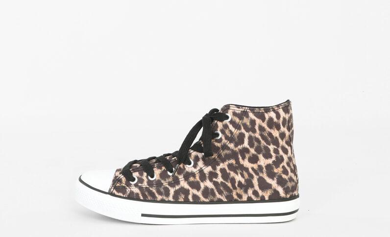 Zapatillas de leopardo marrón