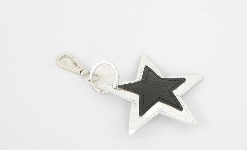 Schlüsselanhänger Stern Altweiß