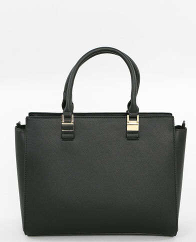 Einkaufstasche mit Zieranhängern Schwarz