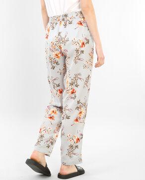 Homewear-Hose aus bedrucktem Satin Grau