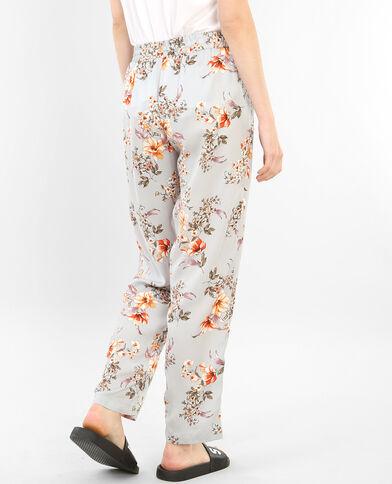 Pantalón homewear satinado estampado gris