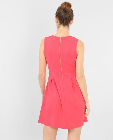 Skater-Kleid aus strukturiertem Material Pink