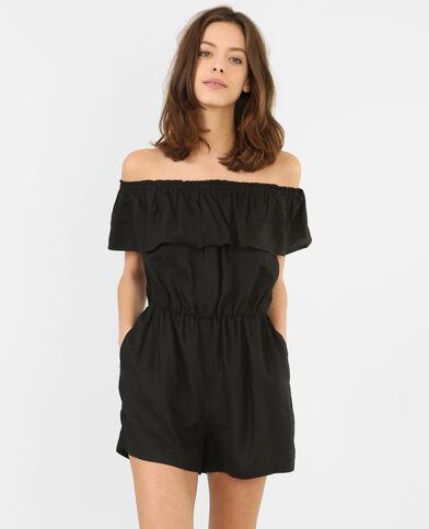Kombi-Shorts mit Bardot-Ausschnitt Schwarz