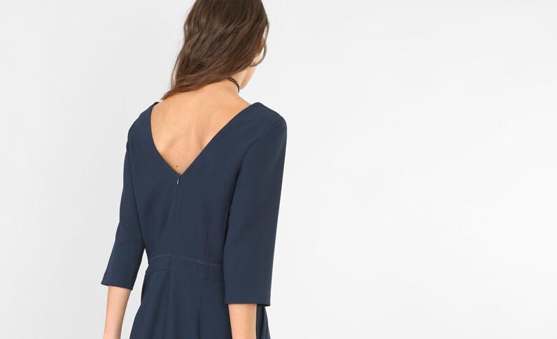 Kombi-Shorts mit V-Ausschnitt am Rücken Marineblau