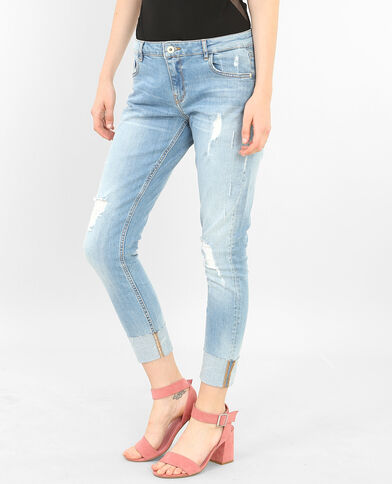 Destroyed skinny blauw