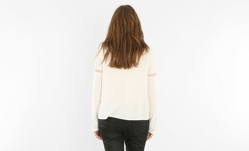 Camicia vittoriana bianco sporco