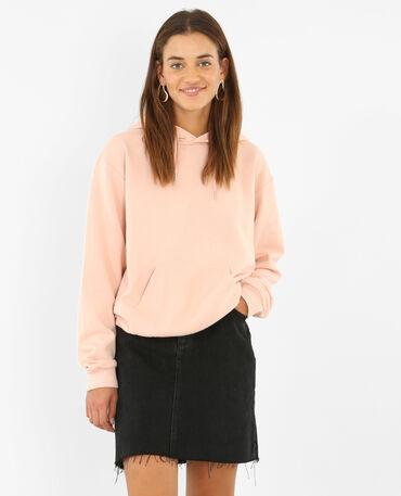 Kapuzen-Sweatshirt Rosa