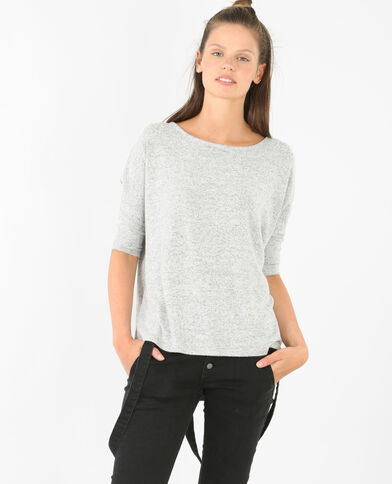 Pull ultra doux gris chiné