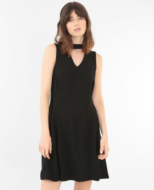 Kleid mit Choker-Kragen Schwarz
