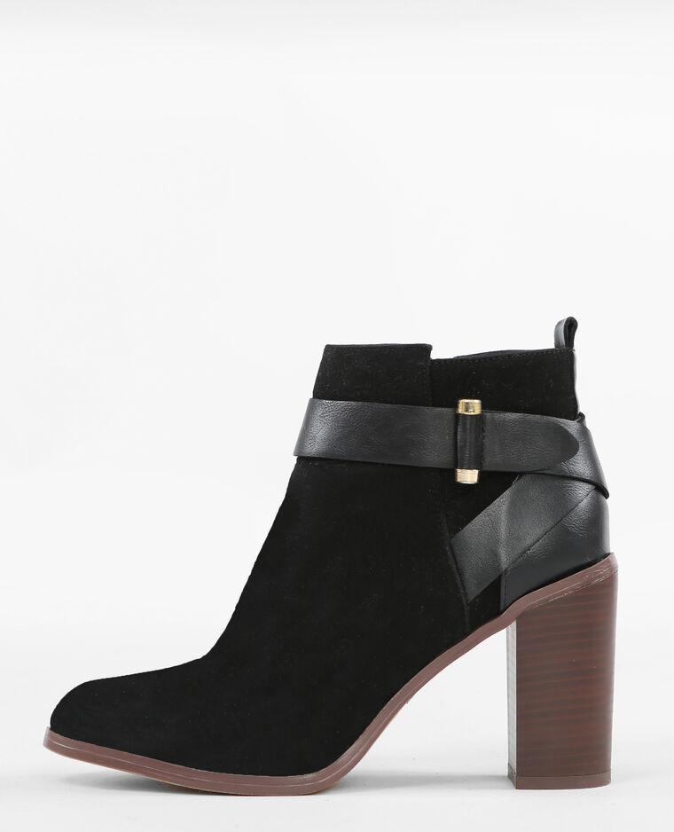 boots talon carr noir 986110899a08 pimkie. Black Bedroom Furniture Sets. Home Design Ideas