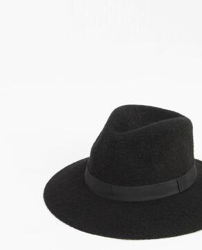 Cappello fedora tricoté nero