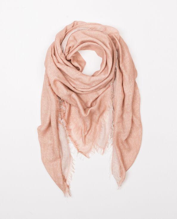 Fular reversible lúrex rosa