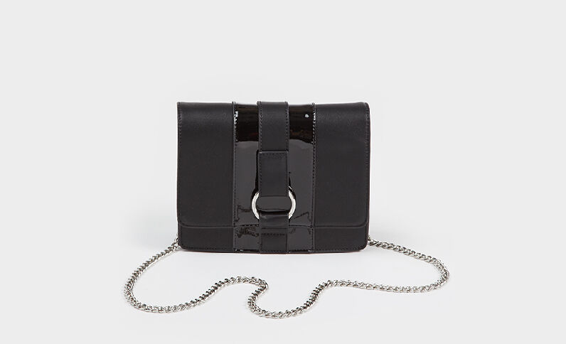 Kleine Boxy-Tasche Schwarz
