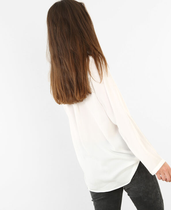 Blusa vaporosa marfil