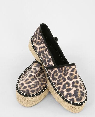 Leoparden Espadrilles Schwarz