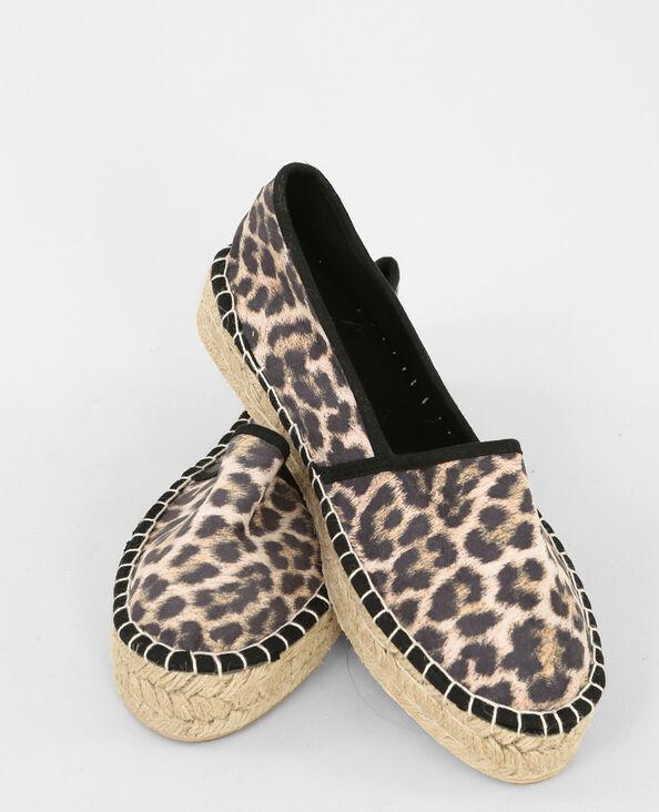 Alpargatas leopardo negro