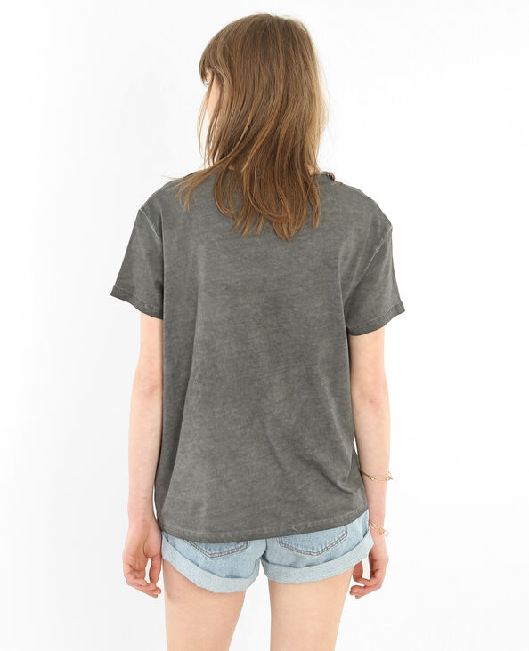 T-shirt licence Nirvana grigio antracite