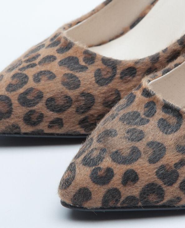 Pumps mit Leoparden-Motiv Kastanienbraun