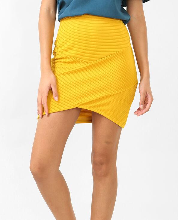 Mini jupe bodycon jaune moutarde