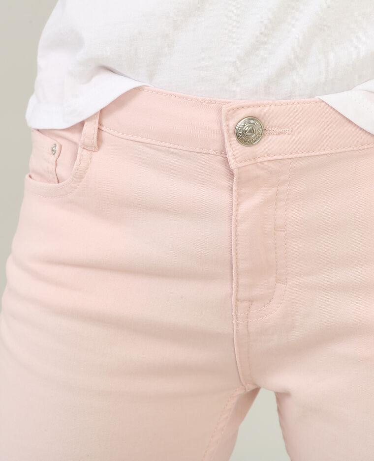 Pantalón slim rosa