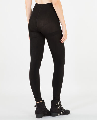 Leggings con forro polar negro