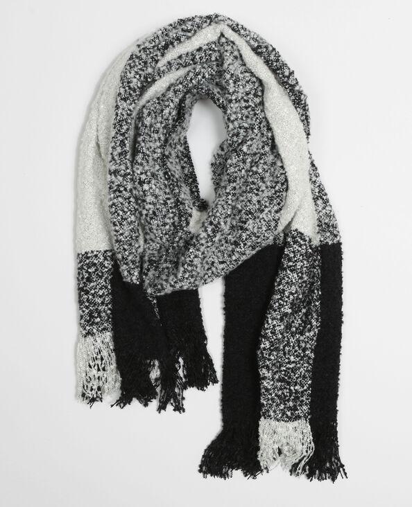 Bufanda de punto rizado marfil