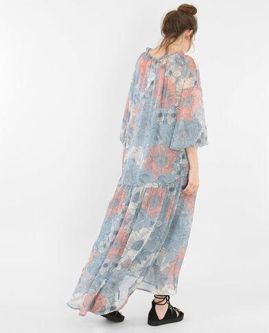 Vestido largo estampado marfil
