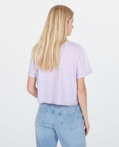 Crop Top mit Aufschrift Violett