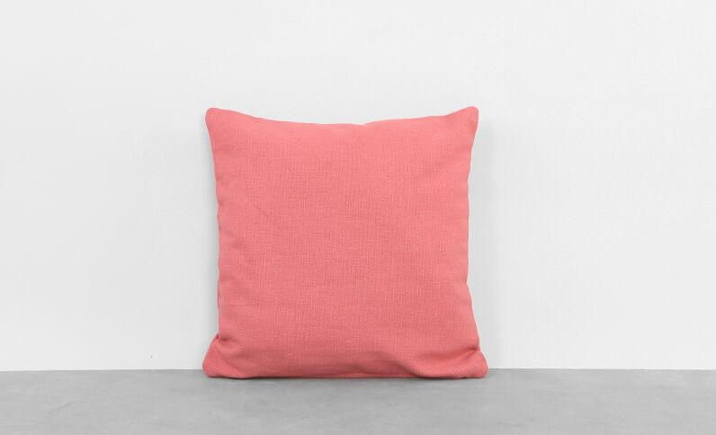 Housse de coussin coton rose
