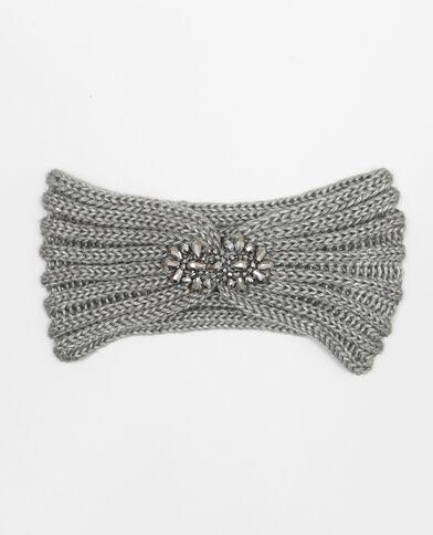 Bandeau avec bijoux gris