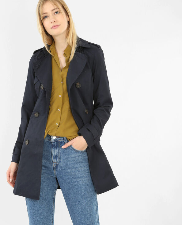 Basic trench marineblauw
