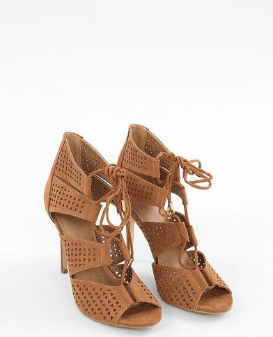 Sandali con lacci marrone