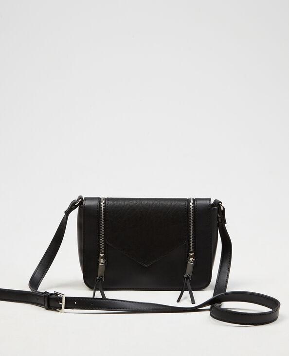 Kleine Boxy-Tasche mit Reißverschluss Schwarz