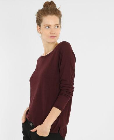 Leichter, einfacher Pullover Bordeauxrot