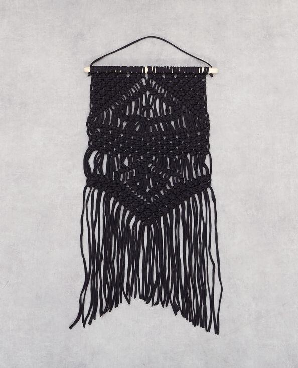 Makramé-Aufhänger Schwarz